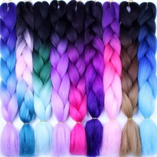 Alizing Ombre Braiding Hair For Crochet Twist Braid 24inch100/pcs High Temperature Fiber Synthetic Two Tone Jumbo