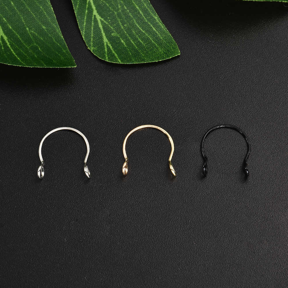 Punk U Shaped Fake Nose Ring Hoop Piercing Nose Lip Jewelry Body Jewelry Gift Rings For Man Women