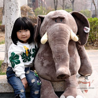 40'' Giant Big Huge Elephant Plush Soft Toys Stuffed Animals Kids Birthday Gift Cute Plush Toys For Children