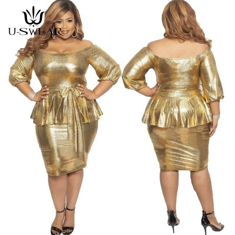 Plus Size Golden Evening Dresses Siamese Hips Sequin Evening Gowns O-Neck Formal Dress Elegant Backless Abendkleider