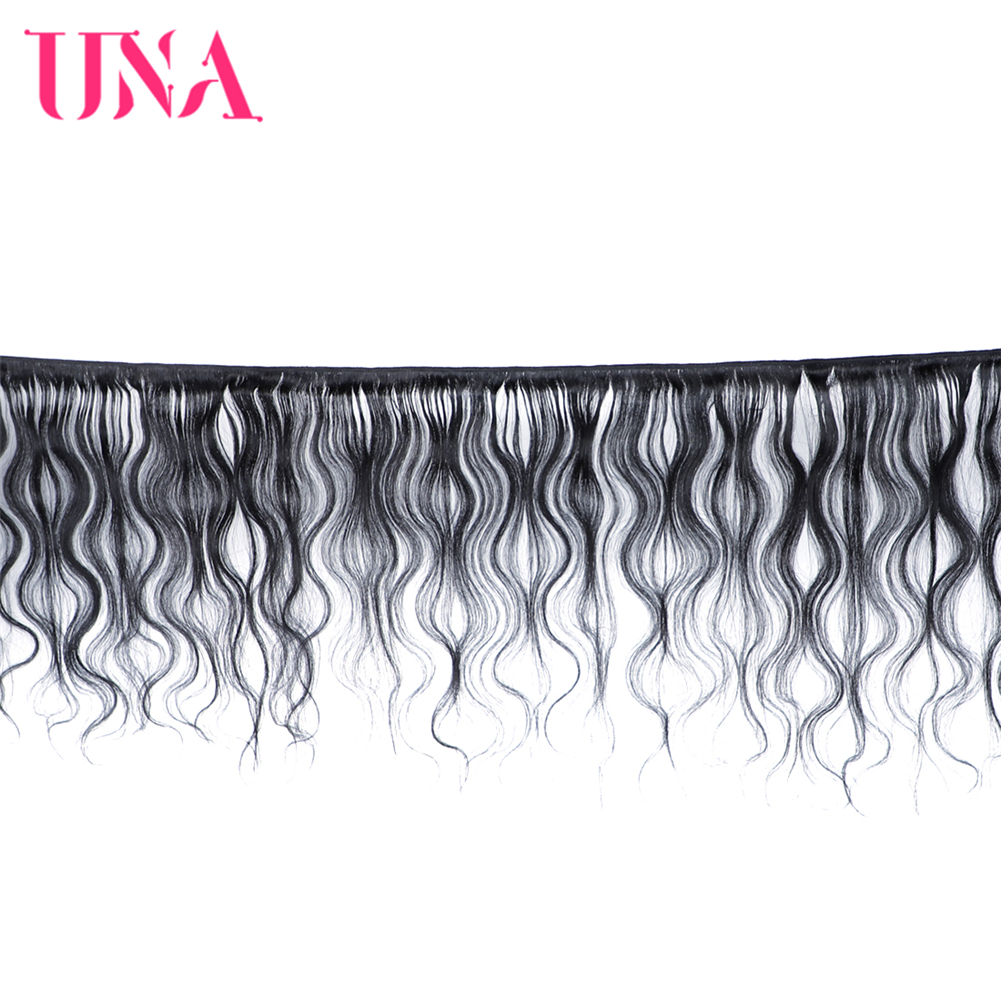 UNA Brazilian Human Hair Body Wave 3 Bundles Deal Remy Human Hair Sew in Extensions 12 quot 28 quot Color 1 1B 2 4 Available in 3 4 Bundles from Hair Extensions amp Wigs