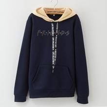 New FRIENDS Letter Womens Hoodie Fashion Trend Casual Letters Friends Sports