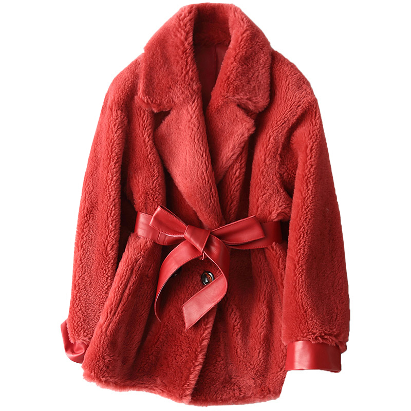 Real Fur Coat Wool Jacket Autumn Winter Coat Women Clothes 2020 Korean Vintage Sheep Shearling Women Tops Abrigo Mujer ZT3782
