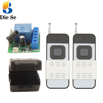 dc12v 48v wireless remote control switches wide voltage 30a relay dc 12v 24v 36v 48v receiver and digital remote controller 3key Diese 433Mhz Universal Wireless Remote Control DC 12V RF Relay Receiver Controller and Transmitter 1000-meters Remote Control