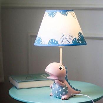 Cartoon Dinosaur Table Lamps for Bedroom Children's Room Boy Kids Bedside Lamp Led Stand Light Fixtures Desk Lights Home Decor