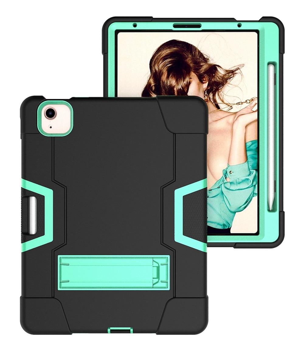 Black - Aqua Blue For Apple iPad Air 4 4th Gen 10 9 inch 2020 A2324 A2072 Case Shockproof Kids