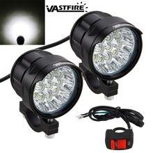 1 Or 2PCS 180W/Pair 90W 7000LM/Per Light 6500K 10x XM-L T6 LED Motorcycle Headlight Spot Work Offroad Driving Fog Lamp