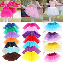 2019 New style Fashion Cute Girl Kid Dancewear Tulle Sequin Princess Tutu Skirt Dance Party Pettiskirt