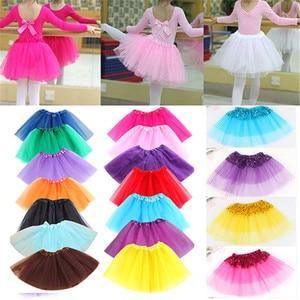 2020 новый стиль модная Милая танцевальная одежда для девочек Тюль блесток Принцесса Танцевальная юбка-пачка вечерние юбки