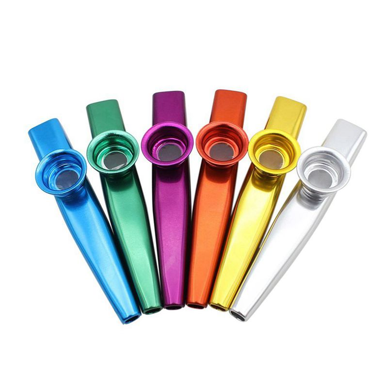 Set of 6 Colors Metal Kazoo Musical Instruments Good Comp for A Guitar Ukulele Great Gift for Kids Music Lovers enlarge