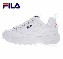 2018 FILAS Disruptor II 2 Men And Women Sneaker Running Shoes White Summer Increased Outdoor Sneaker Plus Size 36-44 A0035(China)