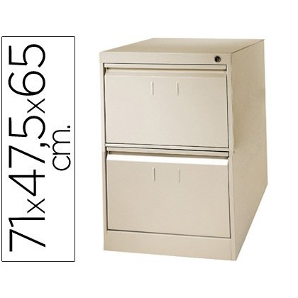 FILE DRAWER SOIL 'S METALLIC 2 'S DRAWER 71CM HIGH, 65CM PROF, 47,5 ANCHOCOLOR BEIGE N34 ROLL