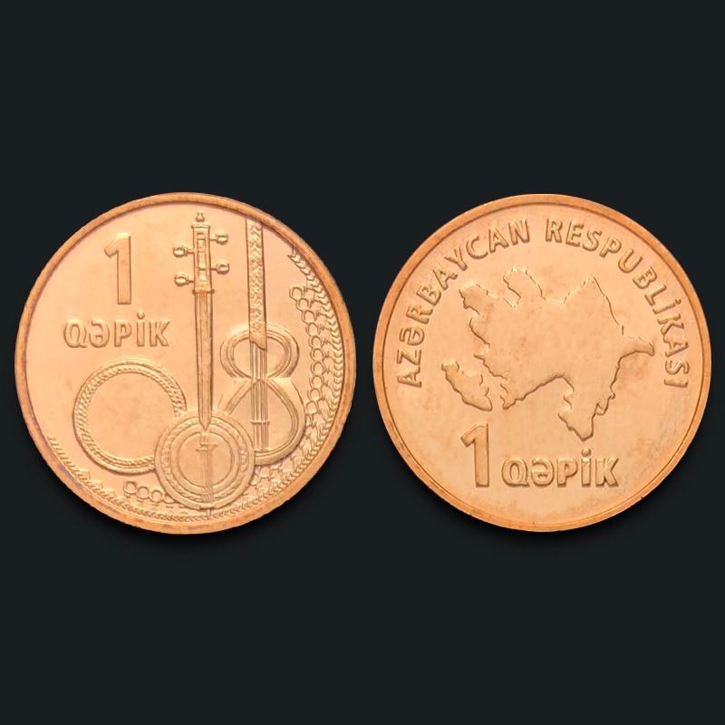 Azerbaijan 1 Gepik New Genuine Original Coins 100% Real Issuing Coins Unc