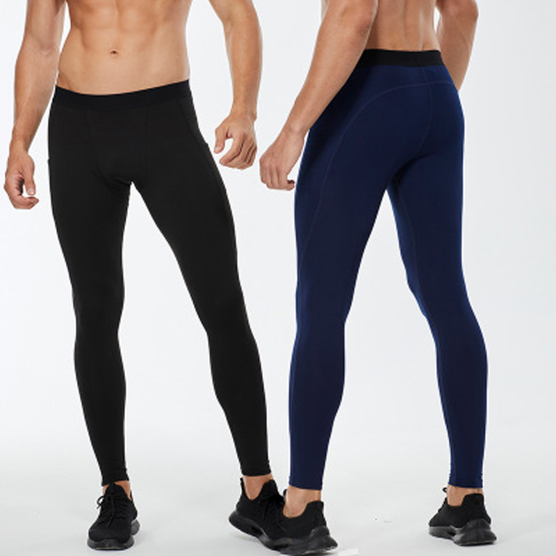 Для мужчин сжатия Спортивные Леггинсы вельветовые брюки для фитнеса карманы тренировочные спортивные штаны Фитнес бег Быстросохнущий вла...