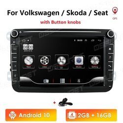 Автомагнитола 2 Din, Android 10, GPS, мультимедиа для Volkswagen, Skoda Octavia, golf 5, 6, touran, passat B6, polo, tiguan, jetta, yeti