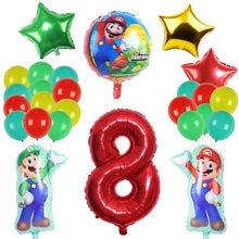 Lebery mario decoração super mario feliz aniversário banner bolo capa superior crianças aniversário bebê banho mario jogo tema festa