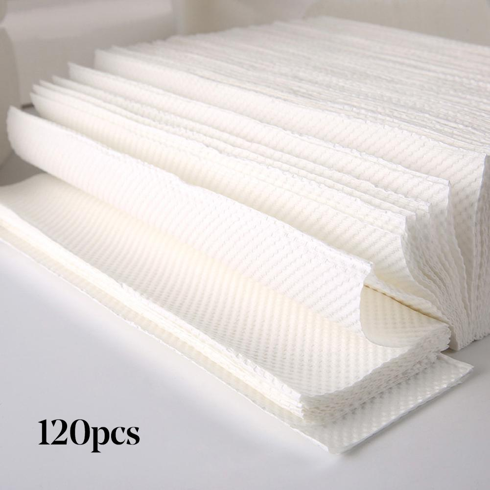 120Pcs Disposable Wood Pulp Toilet Paper Household Hotel Towel  Pure Wood Pulp  Sanitary Tissue