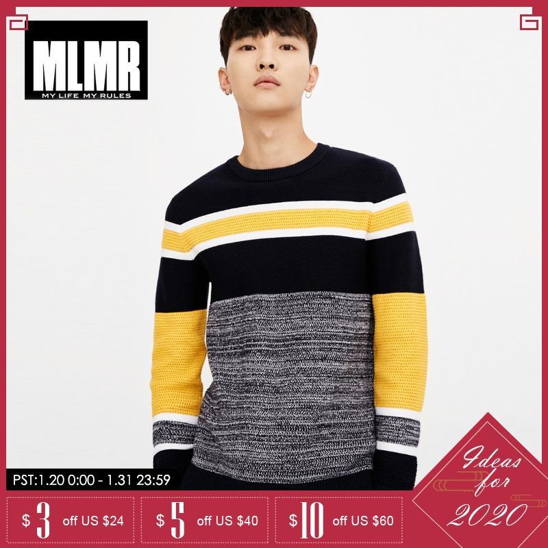 JackJones Men Autumn Winter Strip Stitching Color Pullover Sweater |218324518