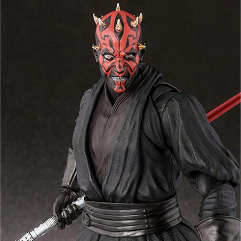 15cm Shf Star Wars Darth Maul Lightsaber Black Series Action Figures Super Movable Joints Face Change Pvc Models Gifts Figures 2