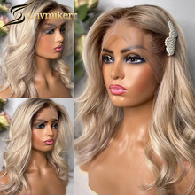 Transparent Ombre Blonde 613 Lace Front Wig Colored Human Hair Wigs Preplucked Bleached knots Hd Lace Frontal Black Women Remy