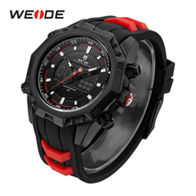 WEIDE Sports Watch Back Light Alarm Silicone Strap Band Belt Mens Watch Automatic Date Analog Digital Quartz Wristwatches Clock original fashion weide watch mens sport watch men digital quartz led week day date watch silicone band wristwatches clock gift