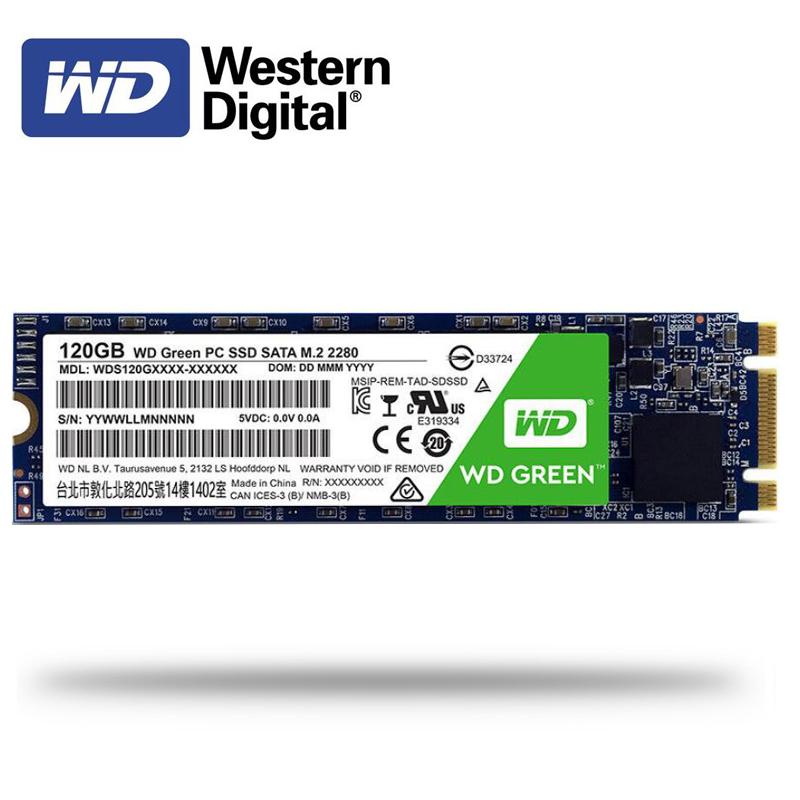 WD Green SSD 480GB 240GB 120GB Internal Solid State Hard Drive Disk TLC M.2 2280 540MB/S NGFF 22*80mm For Laptop