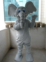 2019 Elephant Mascot Costume Adult Suit Cartoon Party Fancy Dress Outfit Outdoor Customize Size
