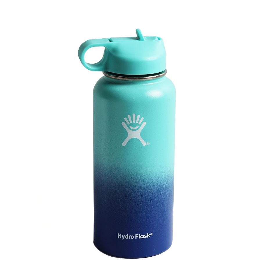 2020 New Hydro Flask Water Bottle with Straw Hydroflask Stainless Steel Water Bottles 18/32oz Outdoors Sports Drink Bottle 5