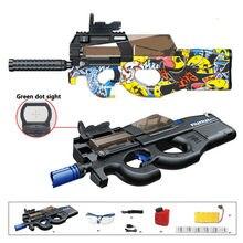 Игрушечный пистолет P90, Электрический снайперский пистолет для граффити, CS для штурмовой винтовки, уличное оружие с мягким водяным гелевым ...