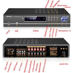 Image 4 - KYYSLB AV 985 650W 220V 5.1 Channel 4.0 Bluetooth Amplifier Home Theater Audio High Power Fever Ktv Amplifier Karaoke with USB