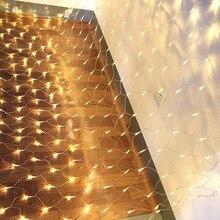 LED light post 1.5x1.5m Stringlight Net Mesh Fairy Lights for Festival Wedding Christmas Party Decoration _WK