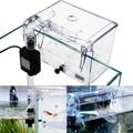 Aquarium Breeding Hatchery House Clear Fish Tank Incubator Transparent Breeder Isolation Hanging Box Reptile Turtle Cage Pump