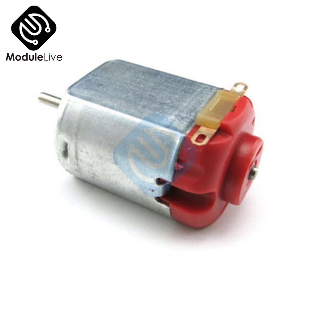 R130 DC Motor Type 130 Hobby Micro Motors 3-6V DC 0.35-0.4A 8000 RPM New