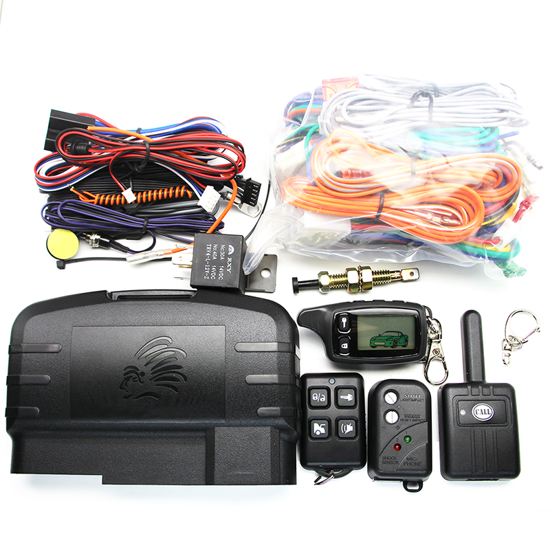 Russia TW9010 Anti-Theft Device Two-Way Car Remote Starter TW9010 LCD Remote Engine Start 2-way Car Alarm Car Alarm