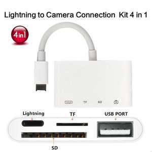 Adapter Otg-Cable Usb-Camera Charging-Port Lightning iPad Sd/tf-Card-Reader-Kit Usb-3.0