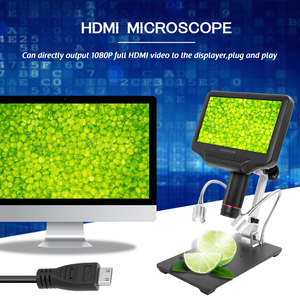 Image 5 - مجهر رقمي ثلاثي الأبعاد AD407 مقاس 7 بوصات بأبعاد 270X 1080P واجهة متعددة الوسائط ميكروسكوبات لمسافات طويلة للإصلاح ولحام