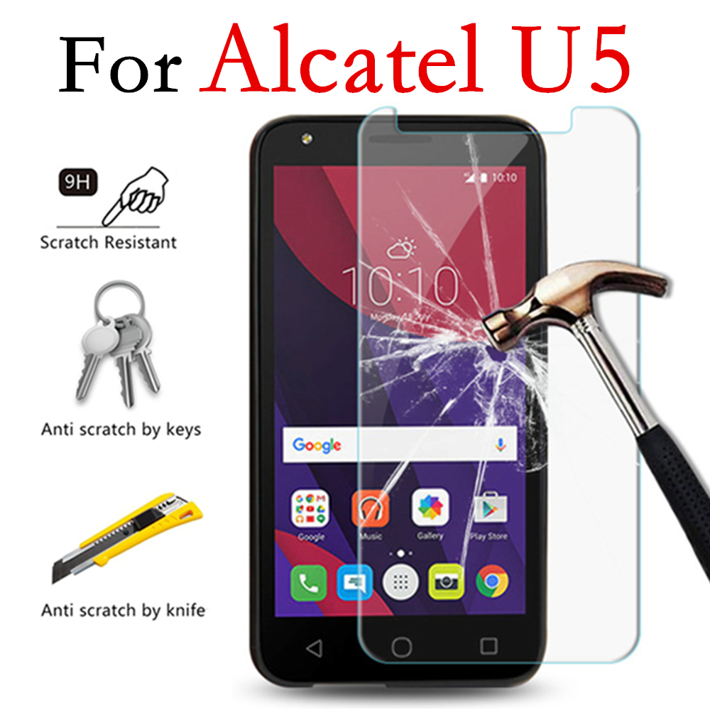 Tempered Glass 9H Protective Film Screen Protector phone for <font><b>Alcatel</b></font> U5 3G 4G HD 4047X 4047D 5044Y 5044D <font><b>5044T</b></font> 5044I 5047D image