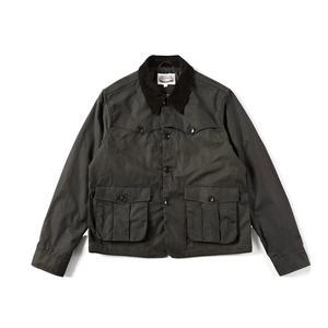 Image 2 - Уличная винтажная Вощеная хлопковая куртка 80 х годов мужское охотничье пальто в коротком стиле оливковая