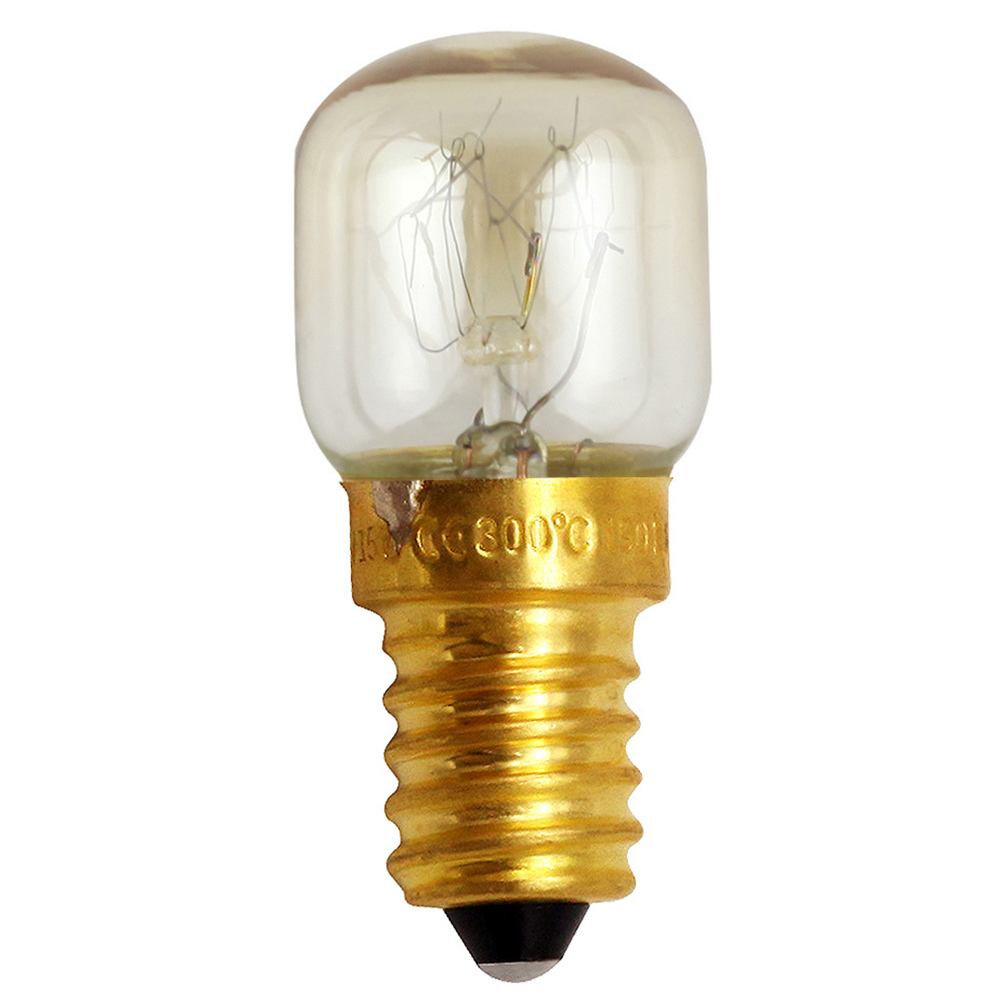 E12/E14 Durable Copper Base Salt Light Replacement Easy Install 15W 25W Incandescent Oven Bulb Microwave Heat Resistant