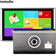 IaotuGo 7 inç Android GPS DVR araba Navigator kaydedici için kapasitif dört çekirdekli 512M,8G WIFI, bluetooth, AVIN,HD 1080P g sensor