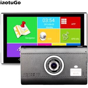 Image 1 - IaotuGo enregistreur DVR pour voiture, 7 pouces, Android, GPS, enregistreur DVR, Quad Core, capacité 512M, WIFI 8G, Bluetooth,AVIN,HD 1080P capteur G