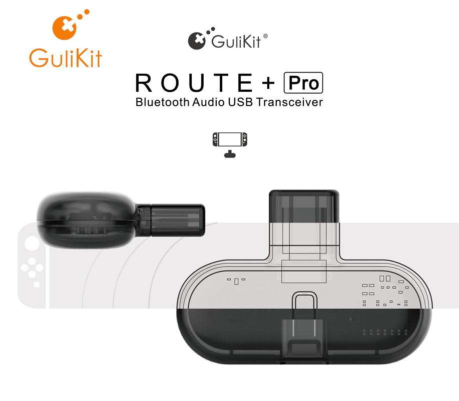 GuliKit Route  Pro Bluetooch Wireless Audio USB Receiver or Transmitter with Audio for Nintendo Switch