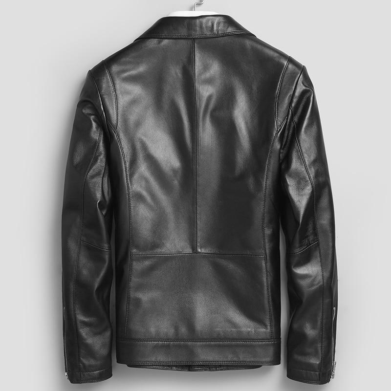 100% Genuine Leather Jacket Men Winter Coat Male 2020 Streetwear Real Sheepskin Motorcycle Jacket Casaco Hiver 71D1707