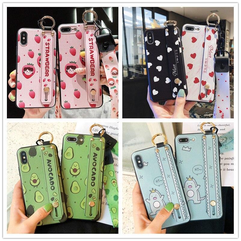 Case For P20-Lite Huawei Y9 P30 No Y7 5i Lanyard-Covers 4-4e 3-3e 2-2s Wrist-Strap P Smart