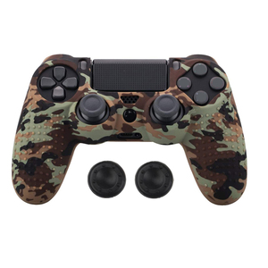 Image 2 - Anti slip Silicone Cover Skin Case for Sony Play Station Dualshock 4 PS4 Pro Slim Controller+ 2 Thumb Stick Grips Caps