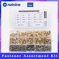 750Pcs/set M2 M2.5 M3 Brass Studs Pillars Standoff Spacers Screw Isolation Spacing Screws Kit HW039