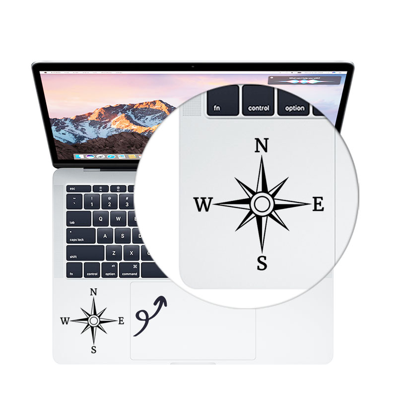 Compass Trackpad <font><b>Laptop</b></font> Decal for MacBook Air Pro Retina 11 12 13 <font><b>15.6</b></font> inch Dell <font><b>ASUS</b></font> Mac Book Touchpad <font><b>Skin</b></font> Notebook Sticker image