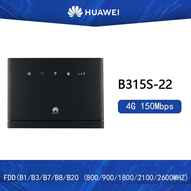 Débloqué Huawei 4G routeurs sans fil B315 B315s-22 3G 4G CPE routeurs WiFi Hotspot routeur avec emplacement pour carte Sim PK B310