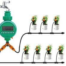 Умный таймер для полива сада с ЖК-дисплеем, автоматический интеллектуальный таймер полива, таймер капельного орошения
