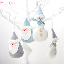 Huiran Merry Christmas Plush Pendants Decorations For Home Hanging Xmas Ornament Navidad 2019 New Year 2020 Natal Noel